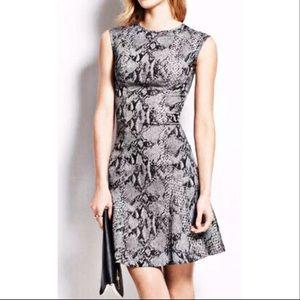 NWOT Ann Taylor snake print cap sleeve dress